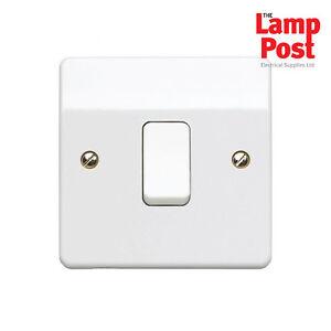 MK Electric K4871WHI Single Light Switch 1 Gang 2 Way 10 Amp Logic Plus