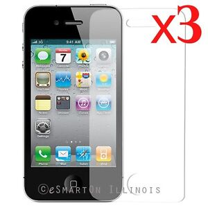 3 X iPhone 4 Screen Protector Anti Glare film USA Seller