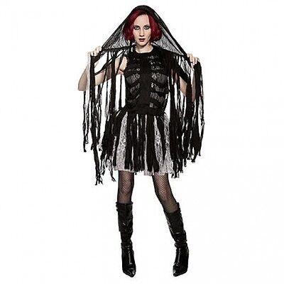 Ladies Mummy Halloween Costume (Black Gothic Egyptian Mummy Women's Halloween Costume Totally Ghoul Size)