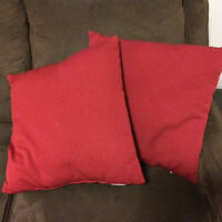 Two Red Decorative Pillows (Moving Sale)