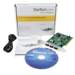 Carte FireWire 1394a PCI à 4 ports avec trousse de montage vidéo