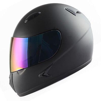 Youth Full Face Motorcycle Helmet MX BMX ATV Dirt Bike Kids Bike DOT Matt Black Childrens Full Face Helmets