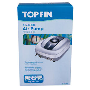 TOP FIN AQUARIUM AIR PUMP FOR TANKS FROM 80 TO 170 GALLONS