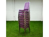 Purple Compact stacking Chairs