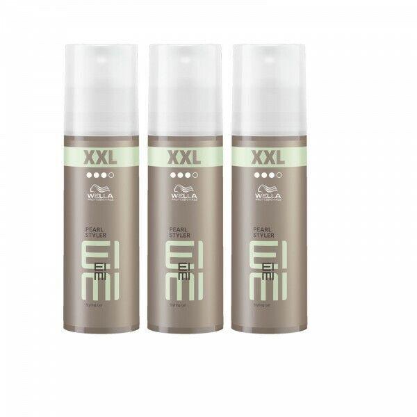 3 x Wella EIMI Pearl Styler Haargel Haarwax starker Halt Styling Gel XXL 150ml
