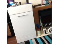 Vanity unit in gloss white £75 with sink hugo oliver