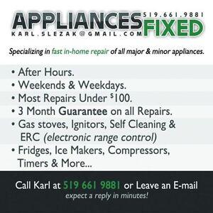 APPLIANCES FIXED - Stoves, Dryers, Washers, Dishwashers, etc....