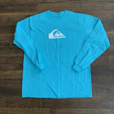QUIKSILVER men's graphic long sleeve t-shirt, blue,  LARGE, New w/o tags