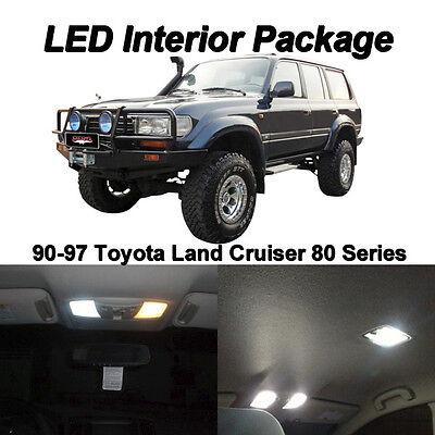 1997 Lexus Lx450 Light - 8 x White SMD LED Interior Light Package For 90-97 Toyota Land Cruiser J80 LX450