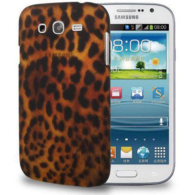 HardCase Backcover für Samsung i9082 Galaxy Grand Duos Leopard Style braun Case Leopard Hard Case Cover