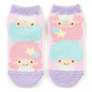SALE-Little-Twin-Stars-Women-Fluffy-socks-US5-5-7-0-Sanrio-Kawaii-Cute-F-S-NEW