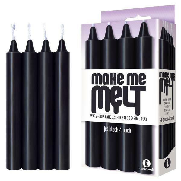 Make Me Melt Drip Candles - Jet Black Drip Candles - 4 Pack