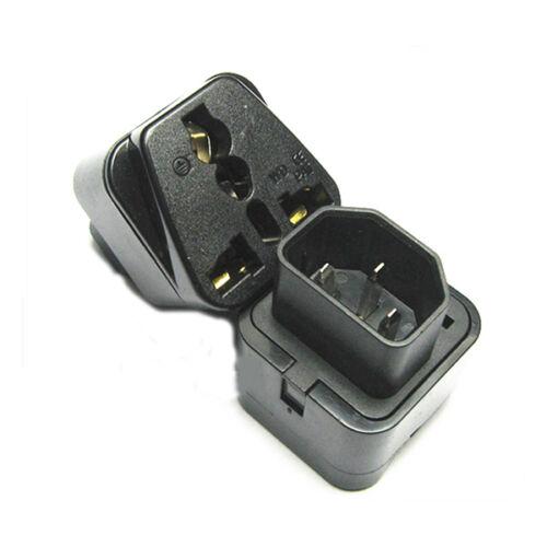 buy iec 320 c14 male plug to universal female jack ac. Black Bedroom Furniture Sets. Home Design Ideas