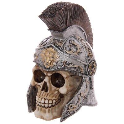 Totenkopf mit Centurion Helm Dekoration Gothic Deko Totenschädel Skull