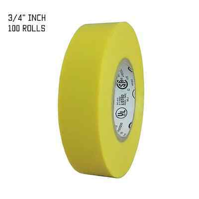 Tapessupply 100 Rolls Yellow Electrical Tape 34 X 66 Ft Full Case