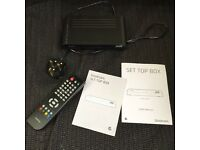 Good mans freeview box with remote & instructions