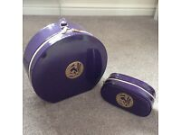 Make up cases travel holiday bags purple