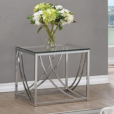$96.96 - Coaster Home Furnishings 720497 End Table Chrome NEW