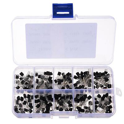 200pcs 10 Values Transistors Pack Transistor Assortment Kit With Storage Box