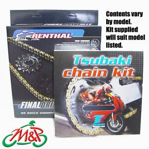 GSXR1000 2005 Tsubaki Drive Chain and Renthal Sprockets Kit