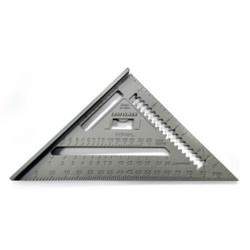 """Craftsman Aluminum Right Angle Speed Square 7"""" Rafter Angle Square NEW!!! 39601"""