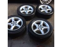 BMW 5x120 alloy wheels with tyres