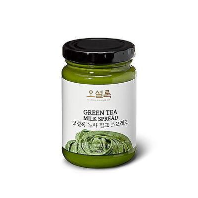OSULLOC 200g Green Tea Milk Spread Jam Matcha Cream from Jeju Island moo