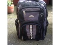 Rucksack with pull along handle and wheels