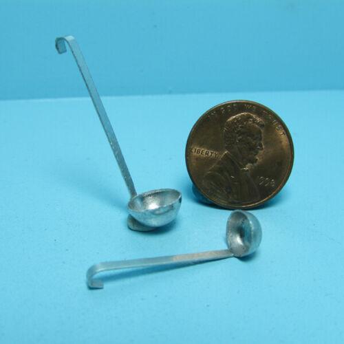 Dollhouse Miniature Metal Soup Ladel Set of 2 FCA3201