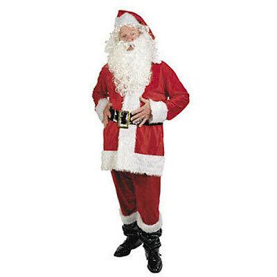 New 7pc PLUS Size SANTA CLAUS Suit Beard Wig Clause BIG](Plus Size Santa Suit)