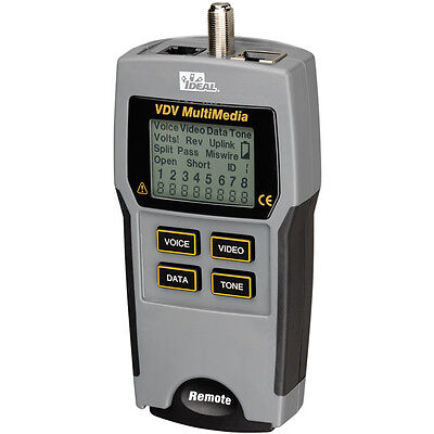 Ideal 33-856 Multimedia Voice Data And Video Tester 33856