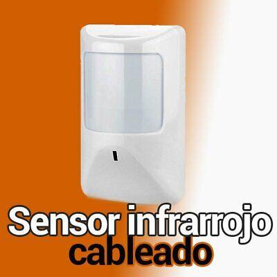 ❤️ Detector de movimiento interior alarma cableada IR101 sensor infrarrojo cable