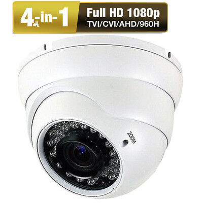 HD-AHD 4-in-1 2.6MP 2.8-12mm Varifocal Zoom IP66 36IR LED 1080P Security Camera