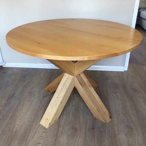 next solid oak round dining table - Oak Round Dining Table