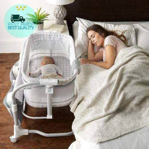 Baby Infant Bedside Bassinet Cradle Crib Portable Nursery Fu