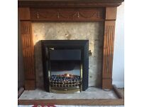 Fireplace, Surround Complete with Electric Fire
