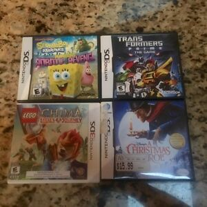 3DS and 2Ds games, transformers, spongebob, Chima, Etc