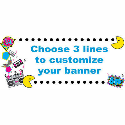 1980's Decade Theme Party Supplies 80'S GENERATION PERSONALIZED BANNER SIGN