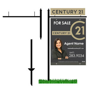 Century 21 Rebranding For Sale Sign / Open House / Business Card