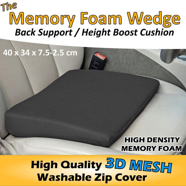 Memory Foam Zeppa Sedile Auto Sedia Cuscino Supporto Lombare Dolore Dorsale