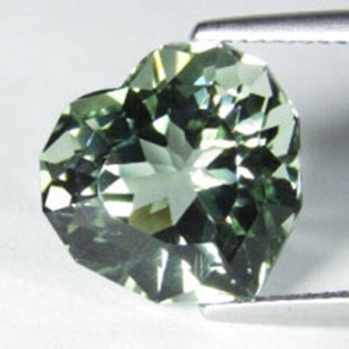 8.02Cts Hi-Look Natural Green Amethyst Heart Custom Cut Loose Gem Ref VDO