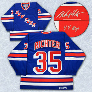 Mike Richter New York Rangers Auto Hockey Jersey Kitchener / Waterloo Kitchener Area image 1