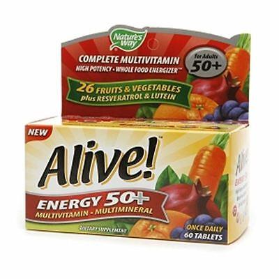 Alive  Energy 50  Multivitamin 60 Ea
