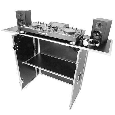 Gorilla DJS Foldable Flight Case DJ Disco Deck Stand Booth Workstation