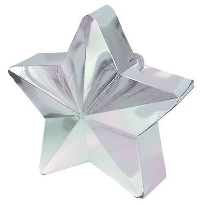 - Iridescent Star Balloon Weight Helium Foil Birthday Wedding Party Decoration