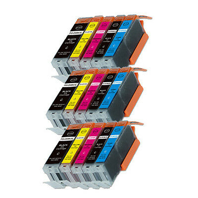 15PK Combo Printer Ink chipped for Canon 250 251 MG6600 MG6622 MX920 -