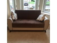 Sofa set (1 two seater, 1 three seater sofa bed with storage, 2 one seater); can be sold seperately