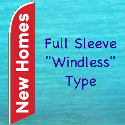 New Homes Windless Feather Flag Real Estate Open House Advertising Banner Sign