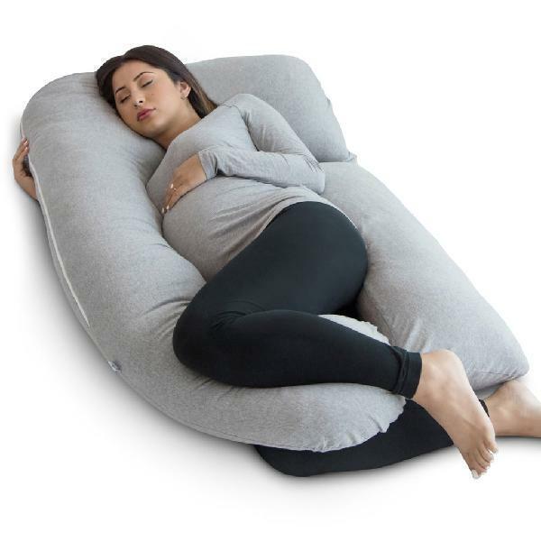 PharMeDoc Pregnancy Pillow - U Shaped Full Body Pillow - Mat