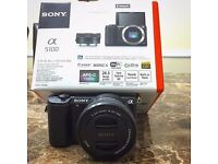 Sony A5100 DSLR Mirrorless Camera Boxed almost new.